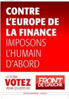 Affiche Front de gauche européennes 2014