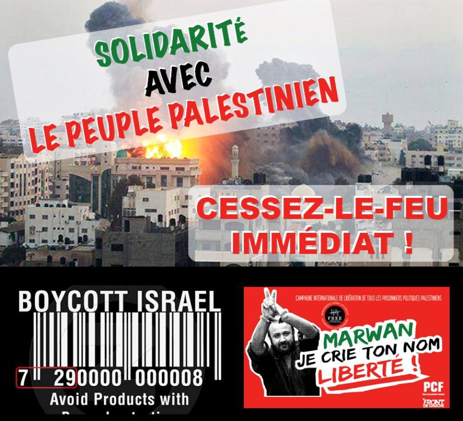 Solidarité Palestine • Arrêtons le carnage à Gaza !