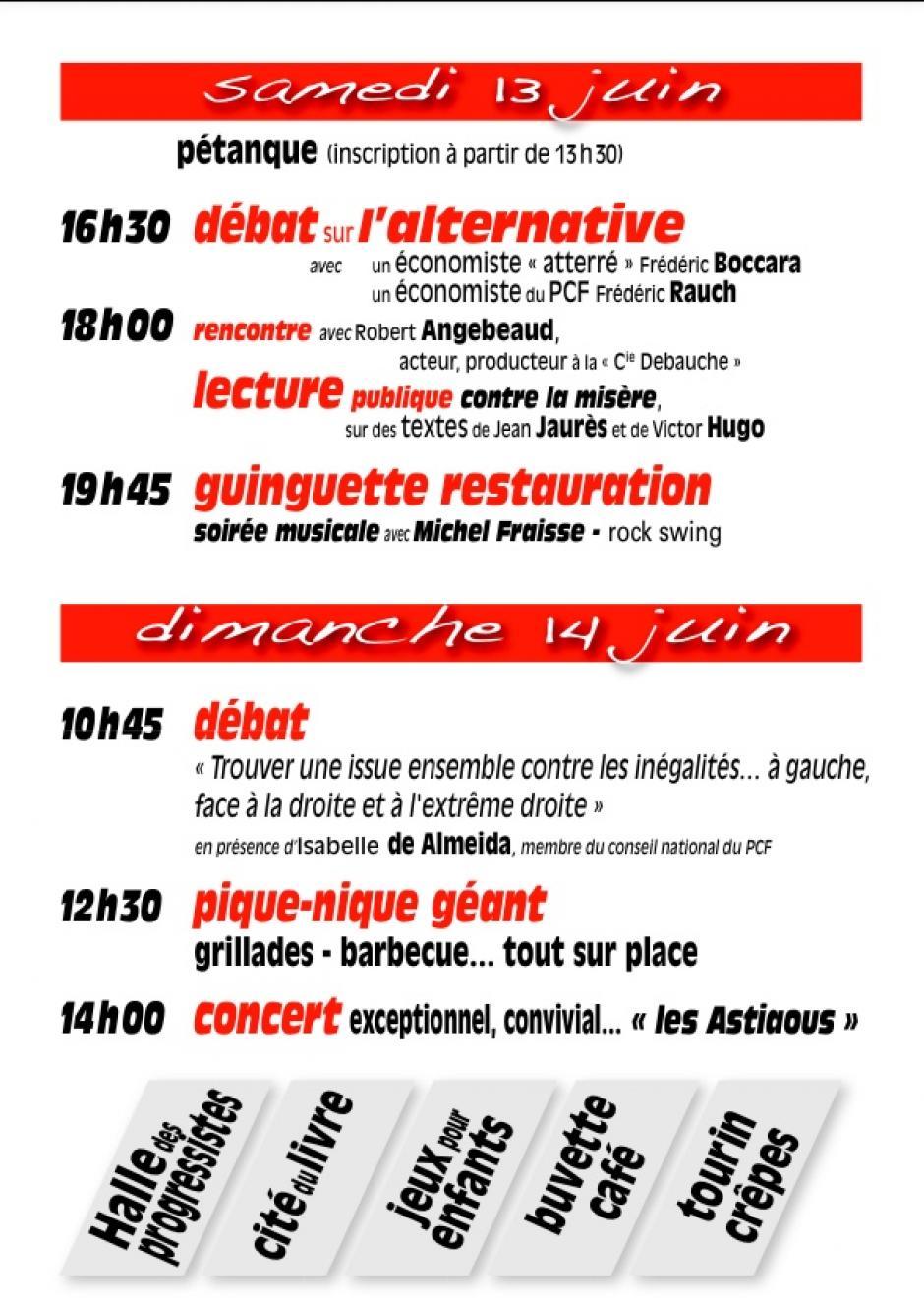 Programme Feugarolles 2015