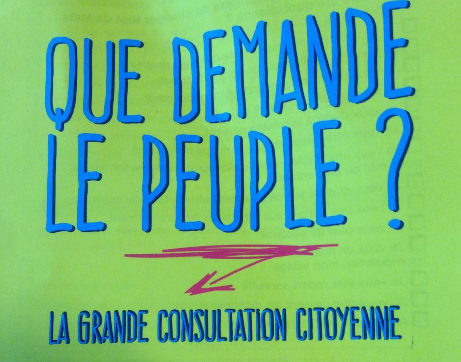 Que demande le peuple ? La grande consultation citoyenne.