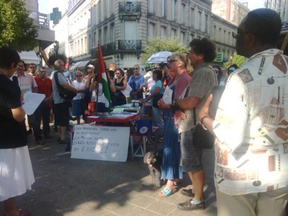 Manifestation de soutient au peuple Palestinien